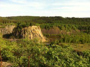 Diabas-Steinbruch Wolfshagen, Themenpfad Spur der Steine